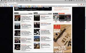 The music video on the Revolver Magazine home page!